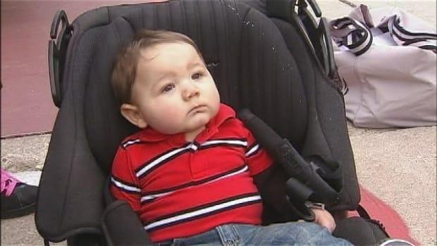 Kyler In His Car Seat.