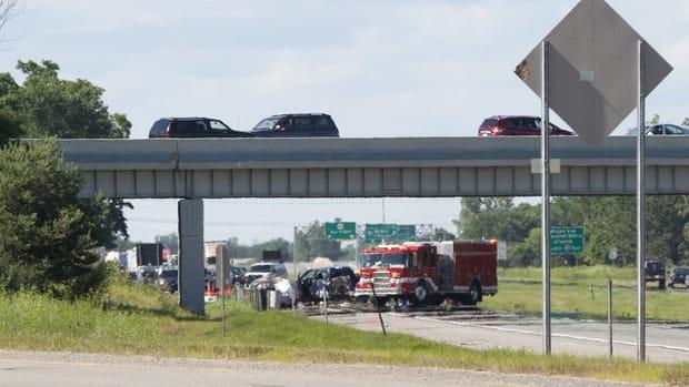 the scene of the crash that killed Curt Orlowski