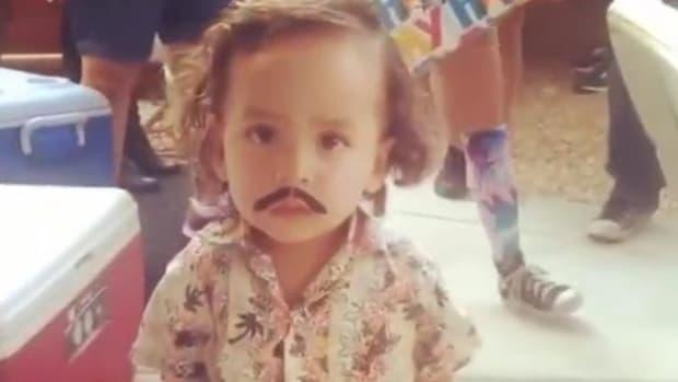 child dressed as pablo escobar