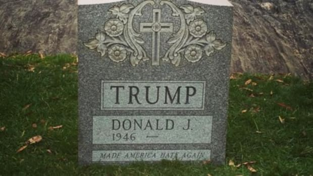 Pranksters Erect Donald Trump Tombstone In Central Park Promo Image