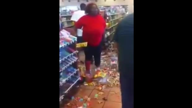 Woman Reportedly Trashes Store Over Food Stamps (Video) Promo Image