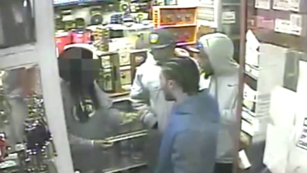 Winston, McDonald, Peterson and Duplan in surveillance video