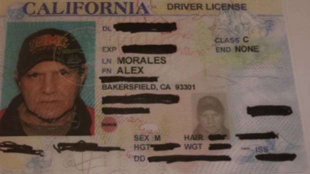 Alex Morales's driver's license photo