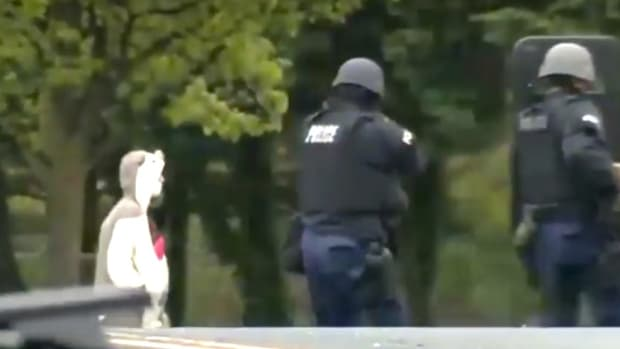 Police Shoot Man Dressed As Panda (Video) Promo Image