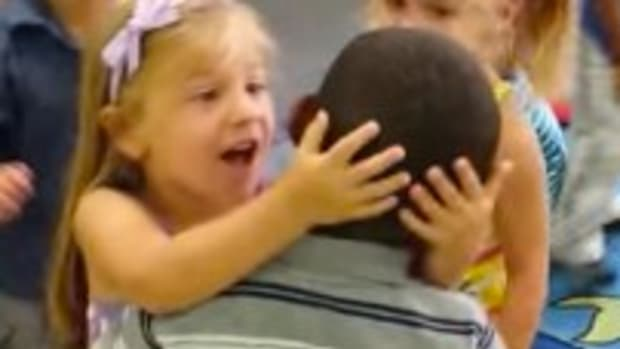 Boy Welcomed To Classroom After Being Out Sick (Video) Promo Image