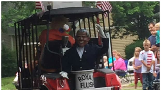 Indiana Man Calls Obama 'Lying African' On Parade Float Promo Image