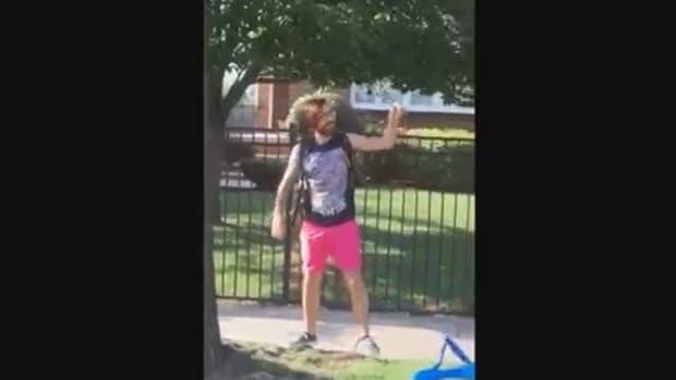 Man Caught Removing 'Blue Lives Matter' Ribbons (Video) Promo Image