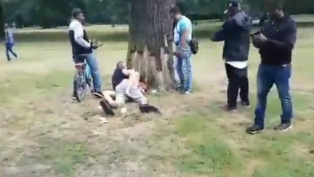 Couple Has Sex In Public Park While Spectators Watch Promo Image