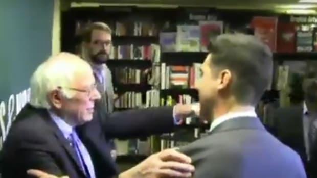Fox News Crashes Bernie Sanders Book Signing (Video) Promo Image