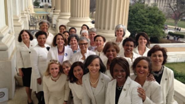 Democratic Women Give Trump Thumbs Down During Speech (Photos) Promo Image