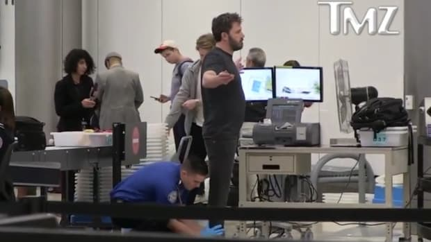 Ben Affleck Receives Thorough Pat Down From TSA (Video) Promo Image