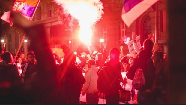 Serbs Enter Fourth Day Of Protests Against President Promo Image
