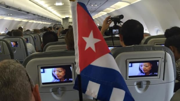 First US Commercial Flight In 50 Years Lands In Cuba Promo Image