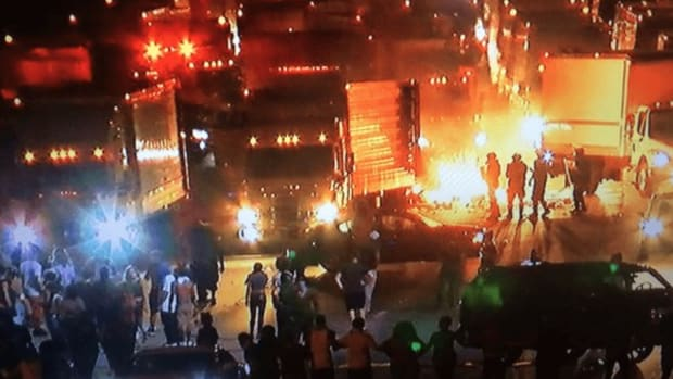 Driver Trapped In North Carolina Protest Feared For Life Promo Image