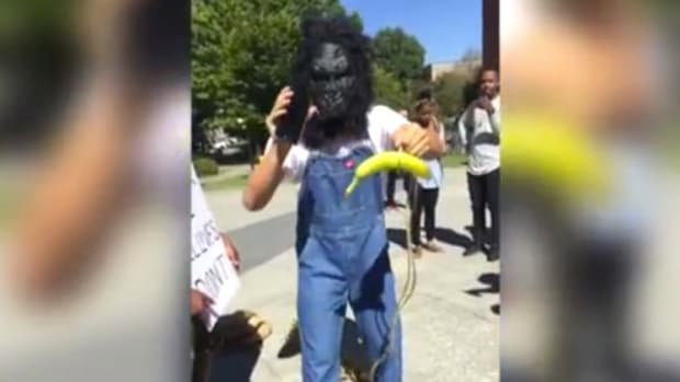 Student Arrested For Gorilla Mask At BLM Protest (Video) Promo Image