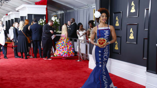 Singer Joy Villa Angers Many With Pro-Trump Dress (Photos) Promo Image