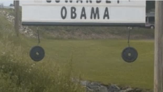 Homeowner To People Outraged By Obama Sign: It's A Joke, Get Over It (Photos) Promo Image
