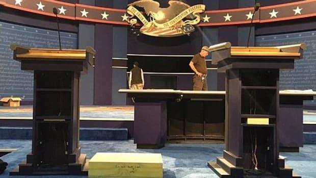 Hillary Clinton's Debate Podium Will Be Modified Promo Image