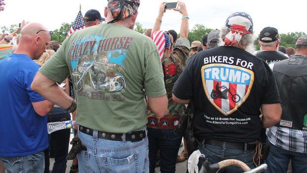 Bikers Plan To Block Anti-Trump Protesters Promo Image