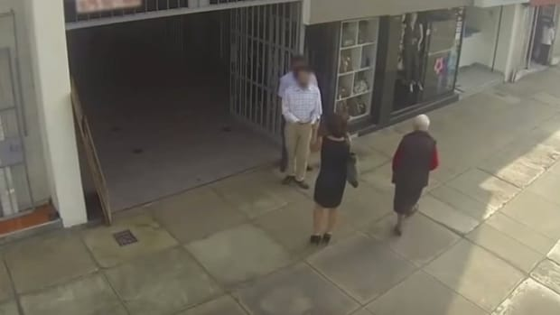 Man Yells 'Hey Piggy' At Woman On Street, She Turns Around And Gives Him Shock Of His Life (Video) Promo Image
