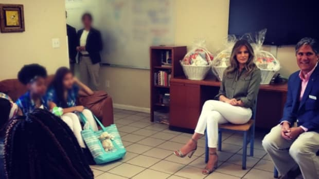 Melania's Shoes Spark Outrage On Social Media (Photo) Promo Image