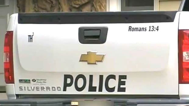 Kansas Police Remove Bible Verse From Vehicle (Video) Promo Image