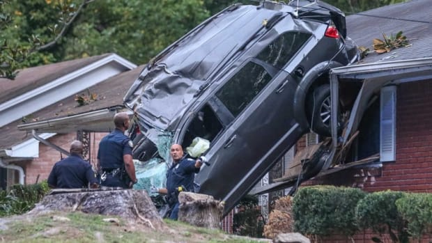 Stolen Car Lands On House Following Crash Promo Image