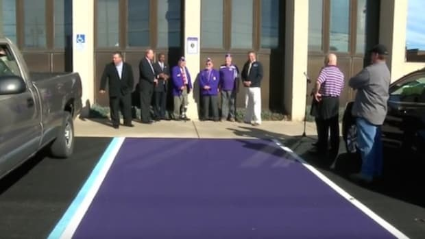 Purple Parking Spot Will Remain As Is, Won't Be Charged For The One Woman Who Was Offended By It Promo Image