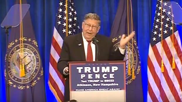 Ex-Gov. Mocks Hillary's Sex Life At Trump Rally (Video) Promo Image