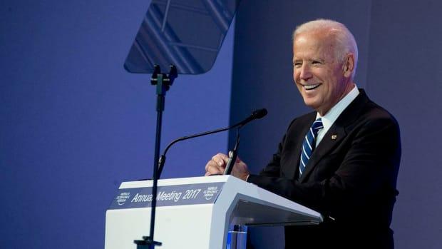 Clinton And Biden Denounce Republican Health Care Reform Promo Image