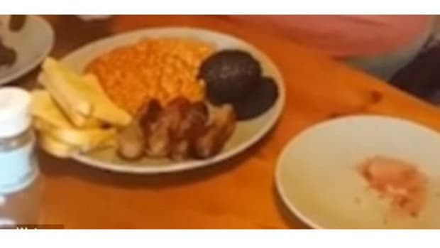 Man Eats Wife's Placenta With Breakfast (Video) Promo Image