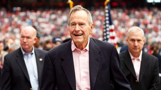 George H.W. Bush Hospitalized For Pneumonia Again Promo Image