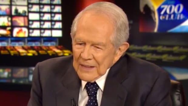 Pat Robertson Blames Devil For News Reporting (Video) Promo Image