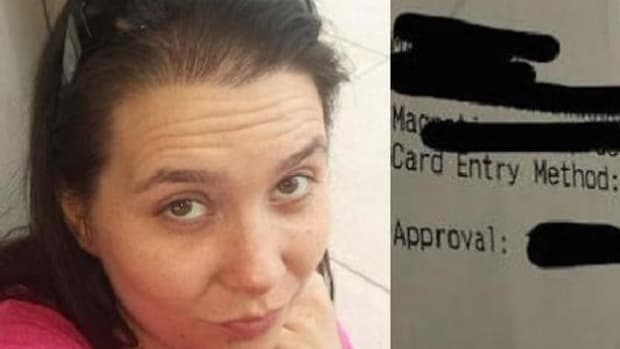 Single Mom And Waitress Caught Off Guard By What Truck Driver Wrote In Tip Line Of Receipt (Photo) Promo Image