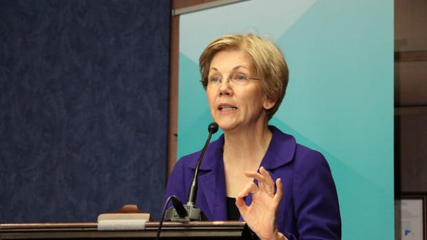 Warren: I Am 'Troubled' By Obama's Wall Street Speech Promo Image