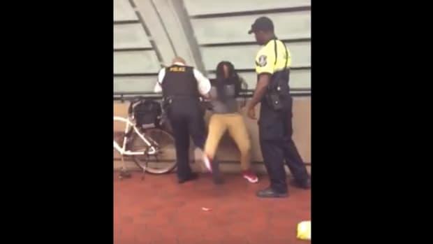 DC Cop Knocks Down Black Girl Over Lollipop, Chips (Video) Promo Image