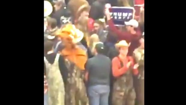 White Students Hold Trump Sign, Shun Black Team (Video) Promo Image