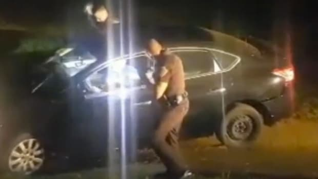 Oklahoma Trooper Hits Man Having Medical Episode (Video) Promo Image