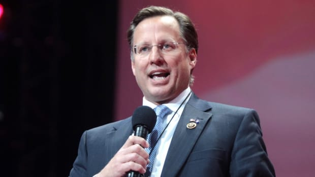 Rep. Dave Brat Complains About Women Asking Questions (Video) Promo Image