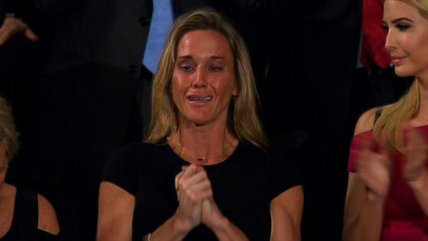 Trump Honors Navy SEAL's Widow During Speech Promo Image