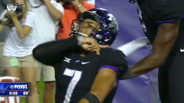 TCU Player Penalized Over Religious Gesture (Video) Promo Image