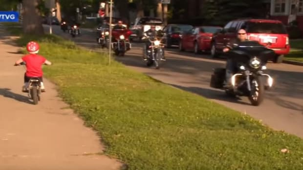 Little Girl Was Simply Riding Her Bike, Then Biker Gang Pulls Up And Says This (Video) Promo Image