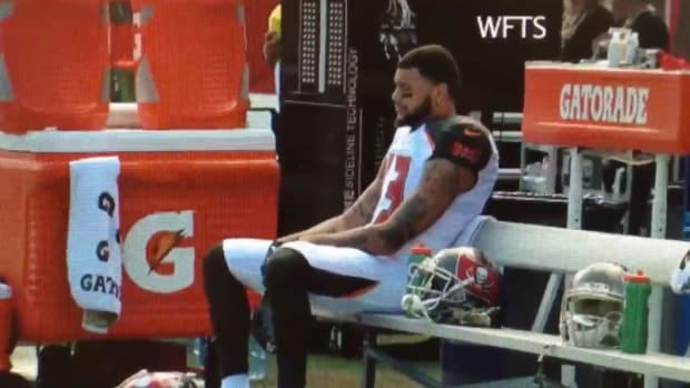 Tampa Bay's Mike Evans Sits For Anthem After Trump Win Promo Image