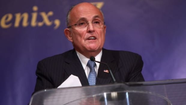 Giuliani Calls Clinton 'Too Stupid' To Be President Promo Image