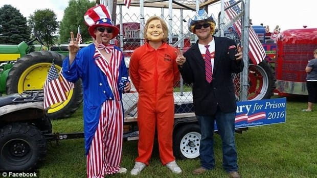 Hillary Clinton Parade Float Sparks Outrage Promo Image