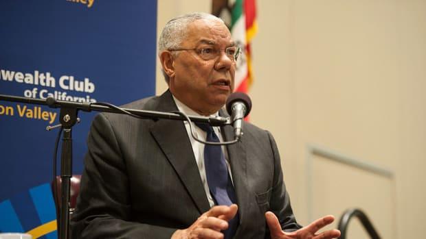 Colin Powell Calls Trump A 'National Disgrace' Promo Image