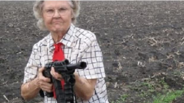 Elderly Woman Grabs Gun To Protect Husband (Video) Promo Image