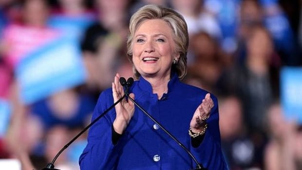 Hillary Clinton Warns Of The 'Epidemic' Of 'Fake News' Promo Image