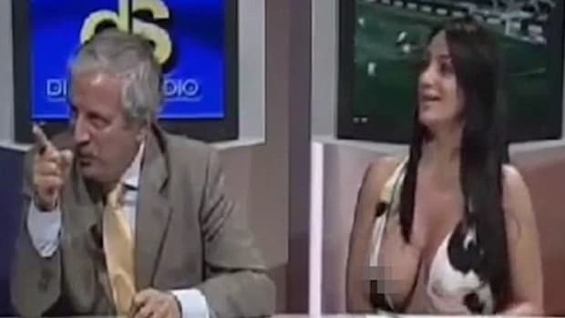 Did This TV Show Host Pop Her Shirt Open, Expose Her Breasts On Purpose? (Video) Promo Image