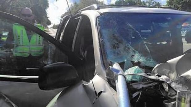 Pole Impales Minivan, Almost Kills Girl Promo Image